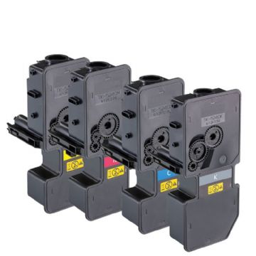Premium FULL SET, HIGH YIELD Remanufactured Kyocera TK-5230 B/C/M/Y Toner Cartridges